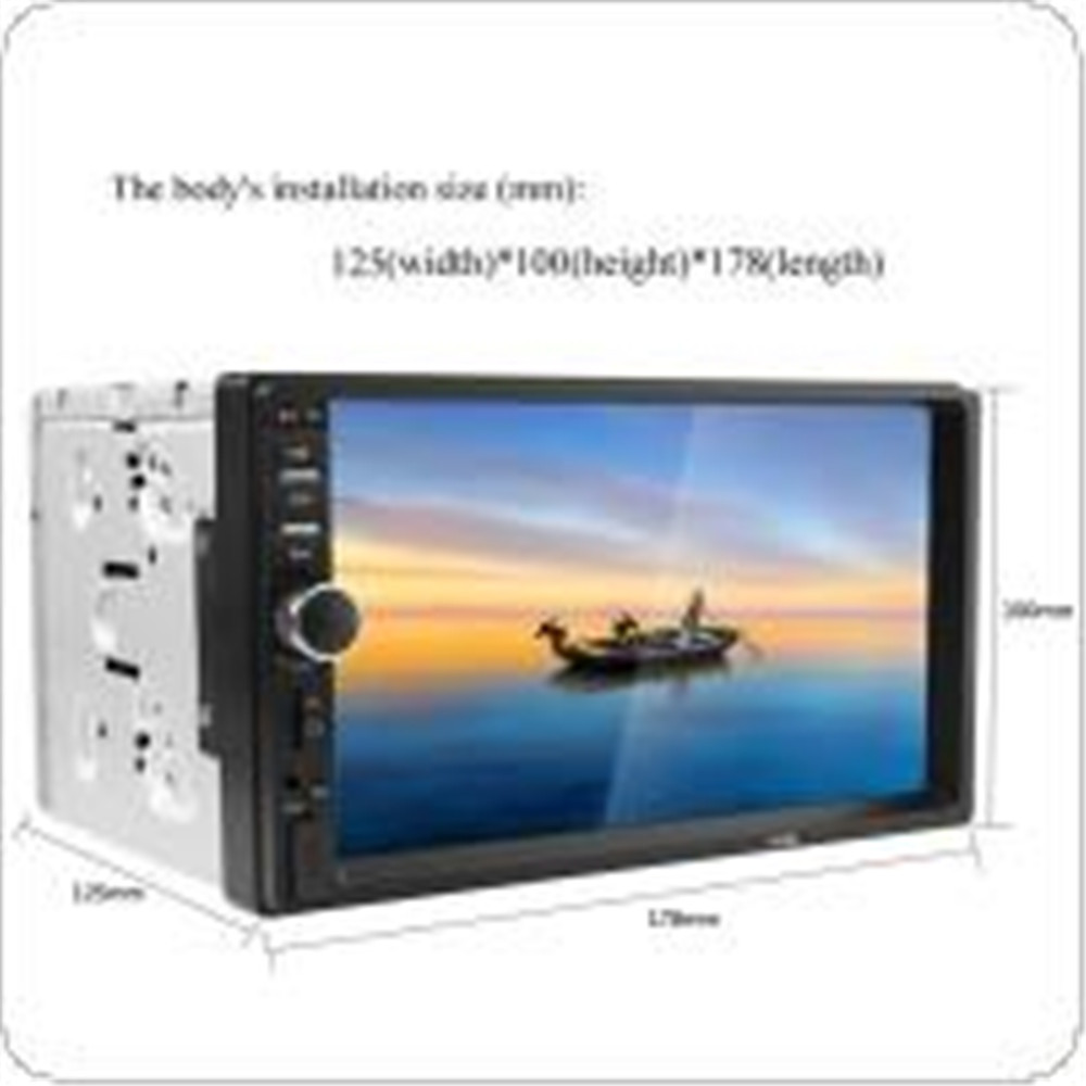 ФОТО REAKOSOUND 7 Inch LCD HD Double DIN Car In-Dash Touch Screen Bluetooth Car Stereo FM MP5 Radio Player