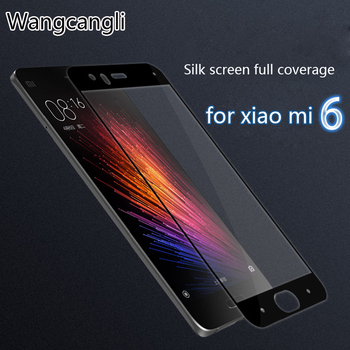 Wangcangli 0.26mm 3D Full screen Tempered Glass For xiaomi mi6 Scratch Proof Screen Protector for mi6 xiaomi glass film
