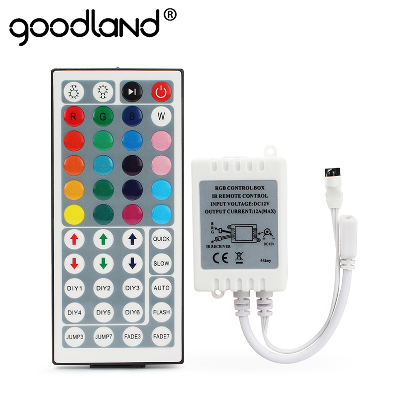 LED RGB Controller 24 Keys 44 Keys Mini IR Remote RGBW Controller DC12V Dimmer Control Box For SMD2835 3528 5050 LED Strip Light