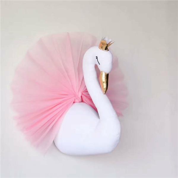 Christmas Swan Hug INS Doll Crown Skirt Baby Kids Comforting Soft Christmas Gift Toy Bunny Sleeping Stuffed Plush Cushion