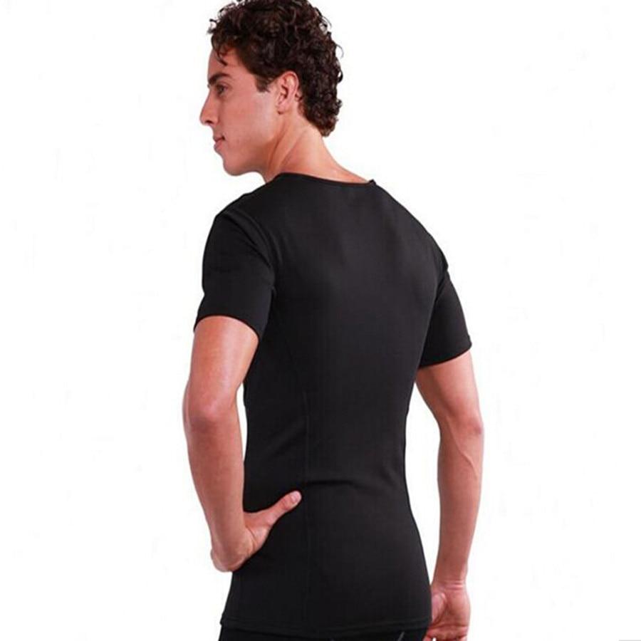 RiauDe explosion Hot Body Shaper Men Neoprene Waist Trainer Corset TShirt Compression Slimming Body Shaper Modeling short sleeve