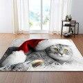 RULDGEE 1 stücke Polyester Anti Slip Katze Muster Teppich für Wohnzimmer Küche Matte Schlafzimmer Teppich Boden Tür Matte Dekoration teppich