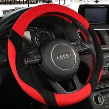 KKYSYELVA  Winter Car steering wheel cover Warm Plush Steering-wheel Protector Cover 38cm Interior Accessories цена