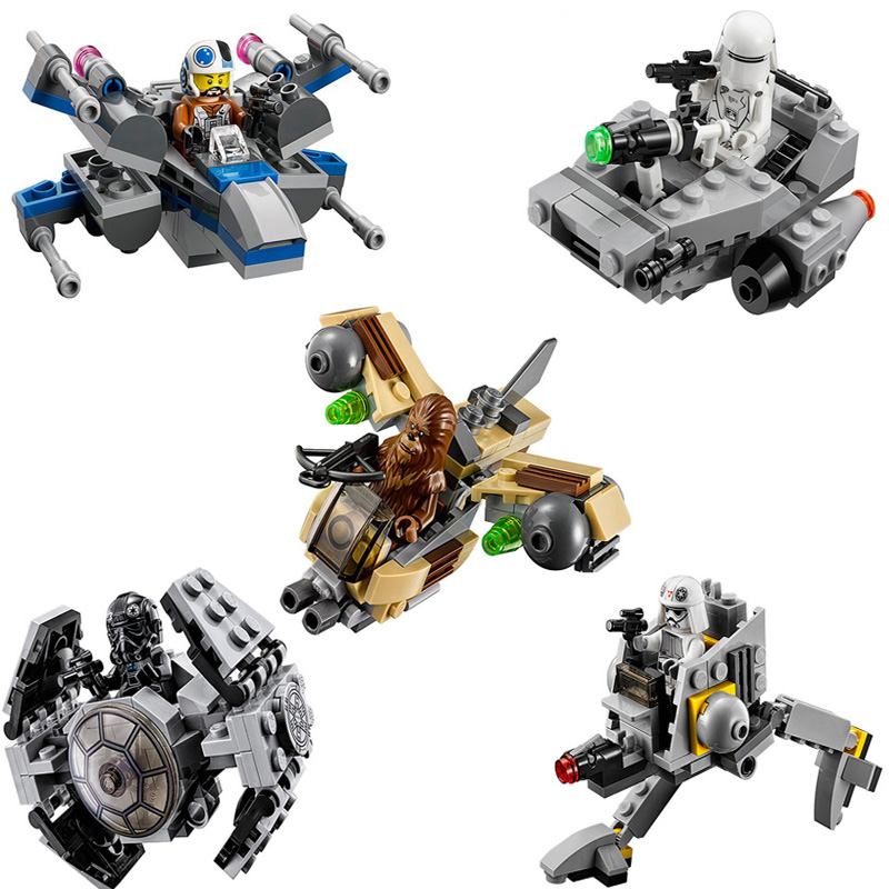 2018 New LEPIN Star Space Wars Microfighters Building Blocks Toys Compatible LegoINGly Starwars Micro Plane 1pcs