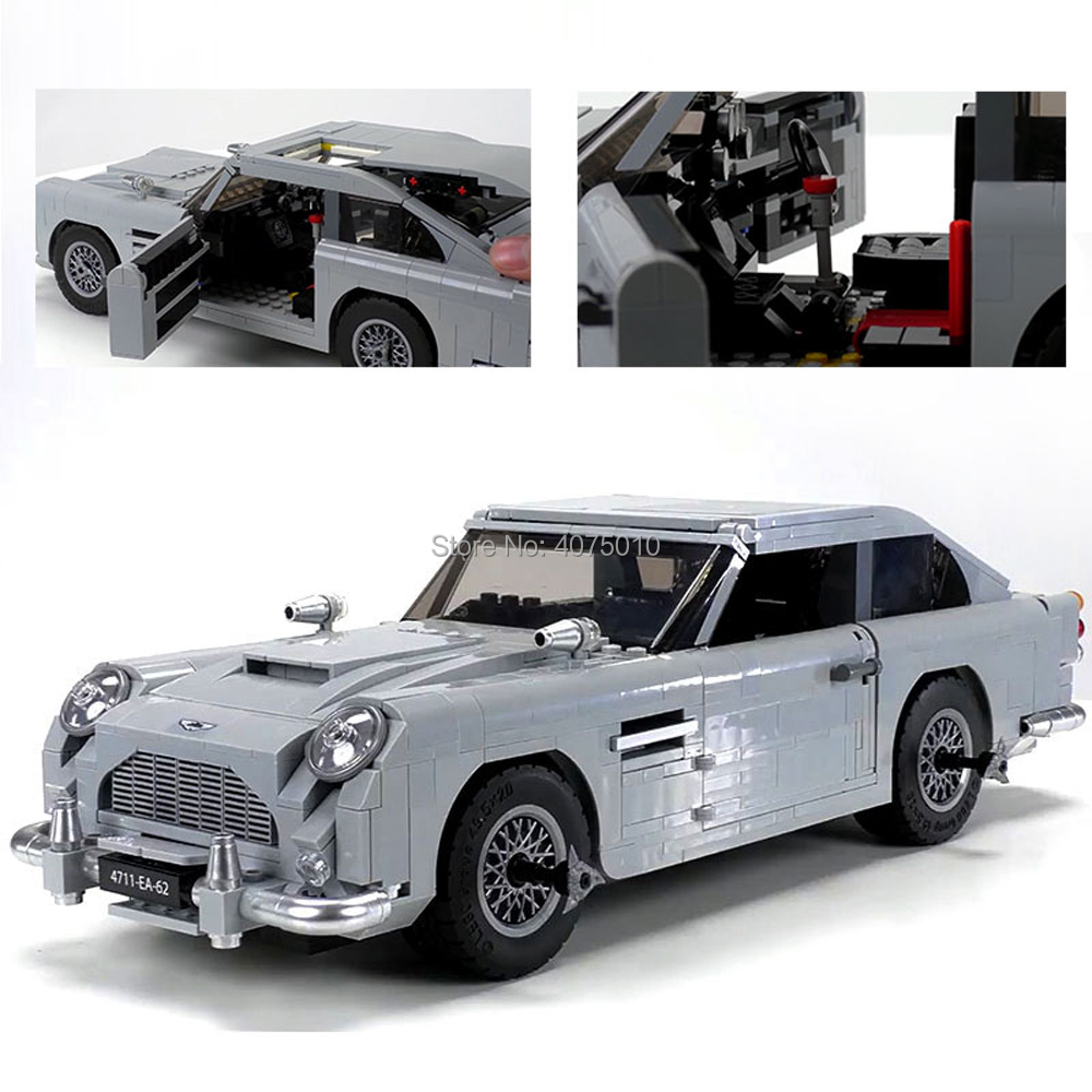 LegoINGlys Creator technic Car James Bond Aston Martin DB5 JB 007 Movie Model 1450pcs Building Blocks Education Toys 10262 james martin