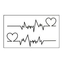Waterproof Temporary Tattoo Sticker On Body Art Heartbeat Water Transfer Flash Tattoo Fake Tattoo Girl Boy