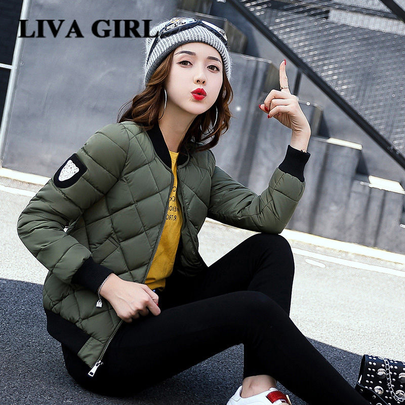 2017 New Hot Selling Autumn Winter Jacket Women Short Section No Hat Zipper Slim Type Casual