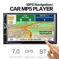 2 Din Автомобильный Видео Плеер 7 ''2Din Автомобилей Радио Стерео Навигации GPS FM RDS Bluetooth Remote Control Rear View камера