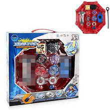 4pcs/set Beyblade arena stadium Metal Fusion B-97 B-100 4D Battle Metal Top Fury Masters launcher grip children christmas toy(China)