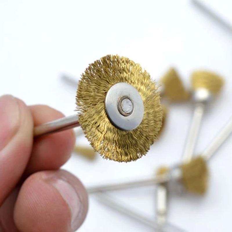 30 stuks Dremel roterende staaldraadborstelwielen set met 1/8 - Schurende gereedschappen - Foto 5