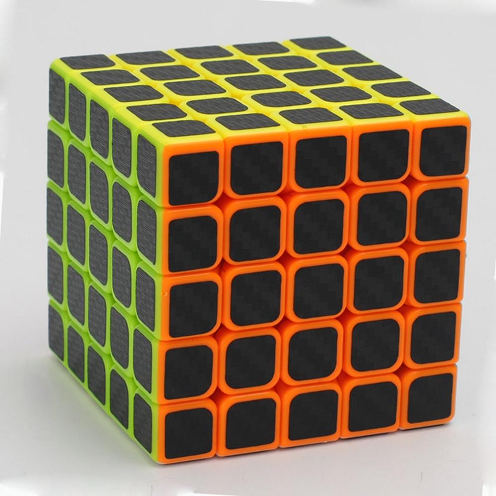 Zcube Black Carbon Fiber Sticker 5x5 62mm Speed Magic Cube - Spel och pussel - Foto 4