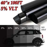 40x100FT 5%VLT Window Tint Film Glass Film Auto Exterior Accessories Window Foils Solar Protection Sticker for Car Side Window