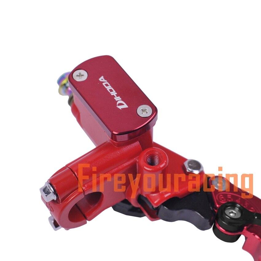 cilindro del freno idraulico principale pompa serbatoio del freno a pedale posteriore per moto Dirt-Bike-ATV. Cilindro del freno principale posteriore