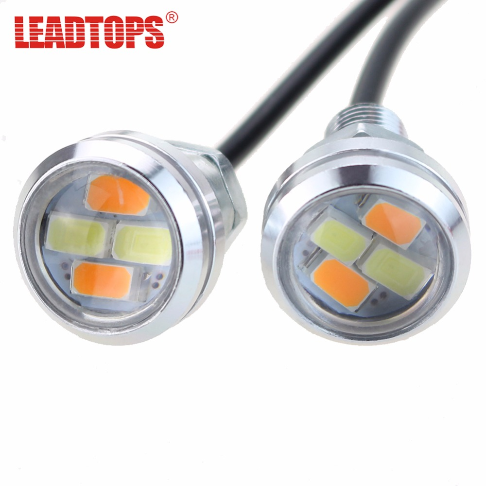 2 Unids Set 23mm Car Styling Led Drl Eagle Eye Luces De Dia Runing