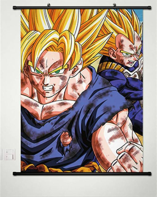 buy dragonball z dragon ball dbz home decor anime japanese poster wall scroll. Black Bedroom Furniture Sets. Home Design Ideas