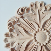 JB62 Veneer Door Heart Decorative Furniture Accessories Background Wall Decoration Circular