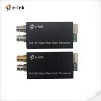 Mini HD SDI Fiber Optic Transceiver Single Mode 10km
