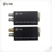 Mini prolongateur optique de Fiber de SDI d'émetteur-récepteur de Fiber de HD-SDI avec Tally monomode 10km