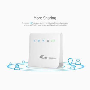 Image 2 - Enrutador Wifi desbloqueado de 300mbps, enrutador móvil 4G lte cpe con puerto LAN compatible con tarjeta SIM, enrutador inalámbrico portátil, enrutador wifi 4G