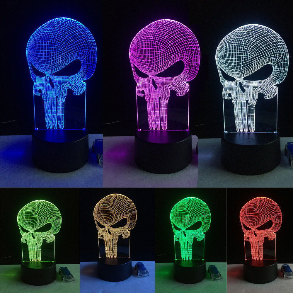 3D Illusion Illusion Novelty 3D Led Visual Night Light Desk Table Lamp Decor 7 Colors Change Flash