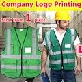 Ropa de alta visibilidad ropa de trabajo verde reflectante chaleco de seguridad chaleco con bolsillos envío gratis