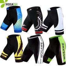 WOSAWE גברים של רכיבה על אופניים מכנסי אופני לנשימה מהיר יבש בגדי 4D ג 'ל מרופד ספורט גרביונים Downhill MTB מכנסיים קצרים