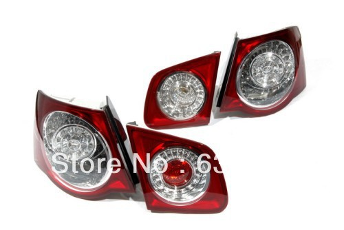 R36 Style Cherry Red LED Tail Light Kit For VW Volkswagen Jetta MK5 secret key chubby jelly tint pack cherry red цвет cherry red variant hex name df140d