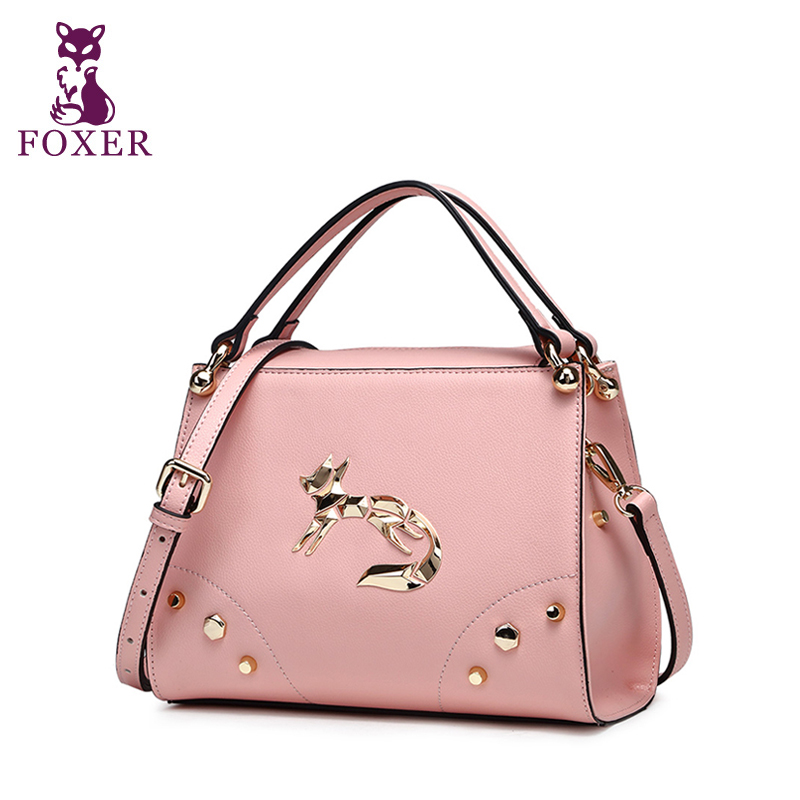 FOXER 2017 luxury women leather handbag ladies messenger bags fashion shoulder bag crossbody for women brand designer handbags 2017 women leather handbag of brands women messenger bags cross body ladies shoulder bag luxury handbags designer s 83