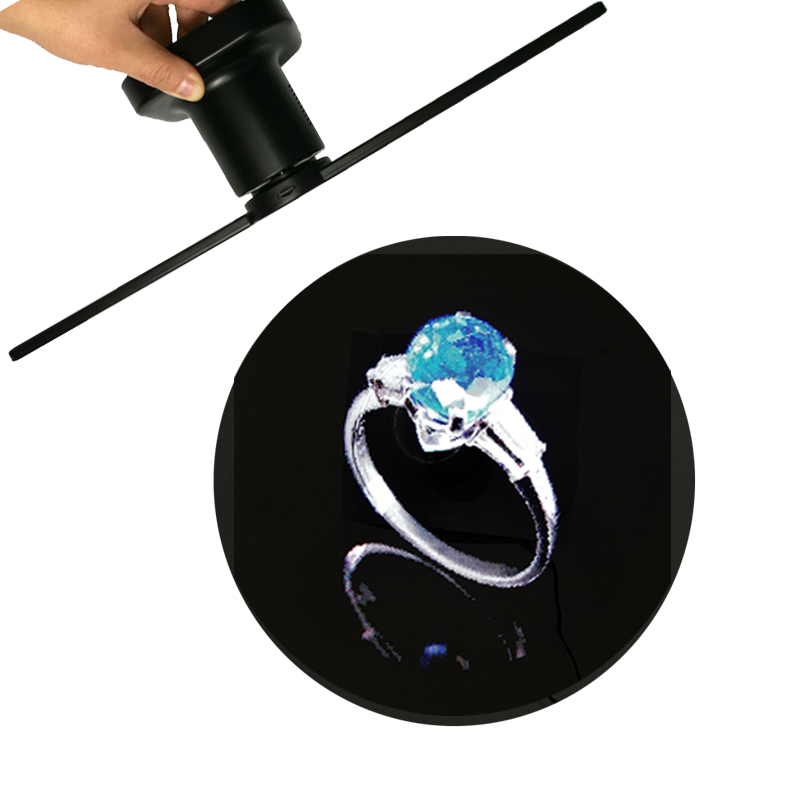 4pcs / lot Advertising Hologram Display 3D Holographic Fan, 3D LED Fan, 3D Hologram Fan image