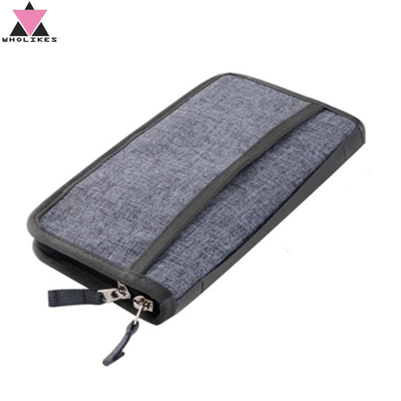 Wholikes Travel Multi-function Passport Package Bank Card Passport Document Bag Waterproof Business Card Card Case Cover