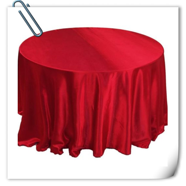 Retail cheap!!! red 90inch 10pcs Satin table cloth for weddings parties hotels restaurant Free Shipping