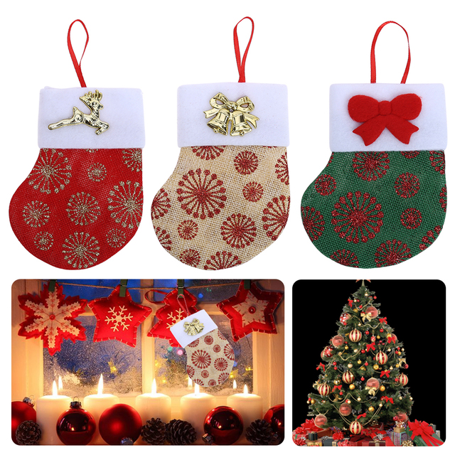 christmas sack socks knife and fork sets christmas tree ornaments socks pendant christmas tree decoration pendant