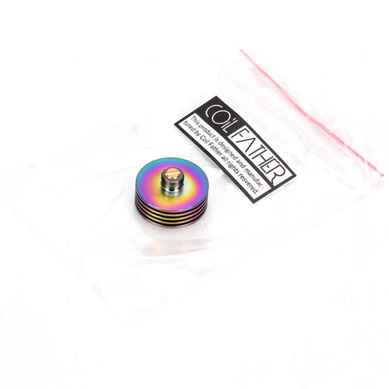 5pcs Coil Father 22mm 24mm 25mm 510 Cooling Base Heat Dissipation Heat Sink Adaptor RDA RDTA Atomizer for Tank E Cigarette Mod