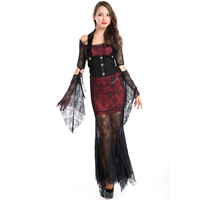 Adult Sexy Halloween Costume Lace Stiching Sexy Gypsy Princess Teen Cosplay Women Sexy Pirate Costumes Party Wear A158533