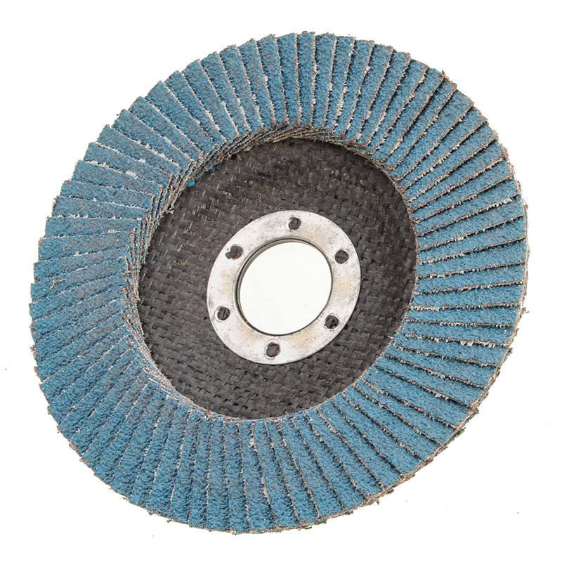 "4.5/"" FLAP WHEEL ZIRCONIA SANDING GRINDING DISC ANGLE GRINDER 40 60 80 GRIT 115mm"