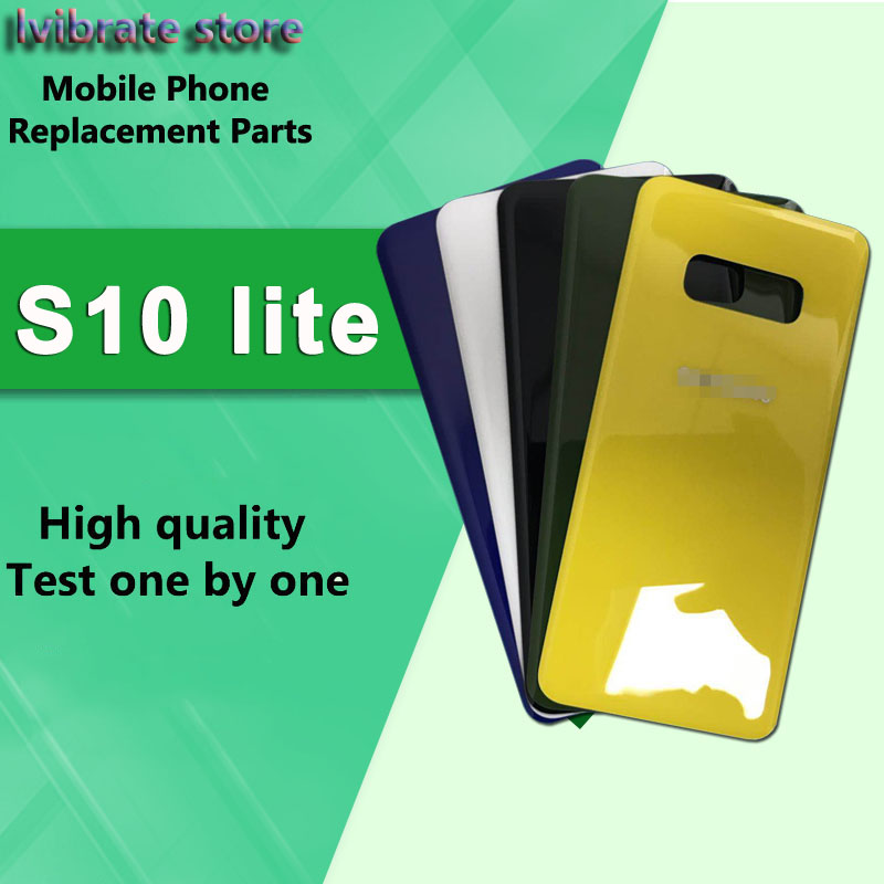 New glass Battery Back Rear Cover Door Housing For Samsung galaxy S10 lite G9700 5.8 Battery Cover S10lite back shell repair image