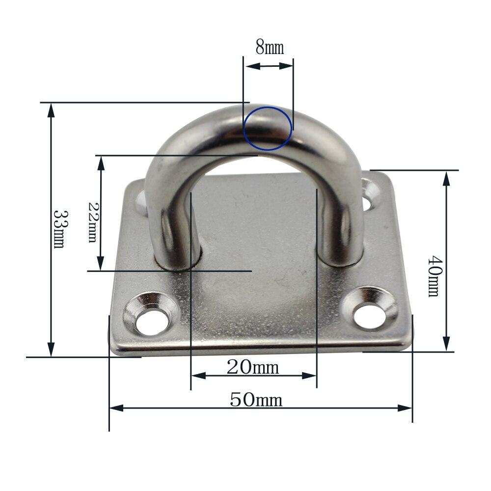 Heavy Duty Circular Pad Eye 316 Stainless Steel Marine Grade 8 Piece 35mm