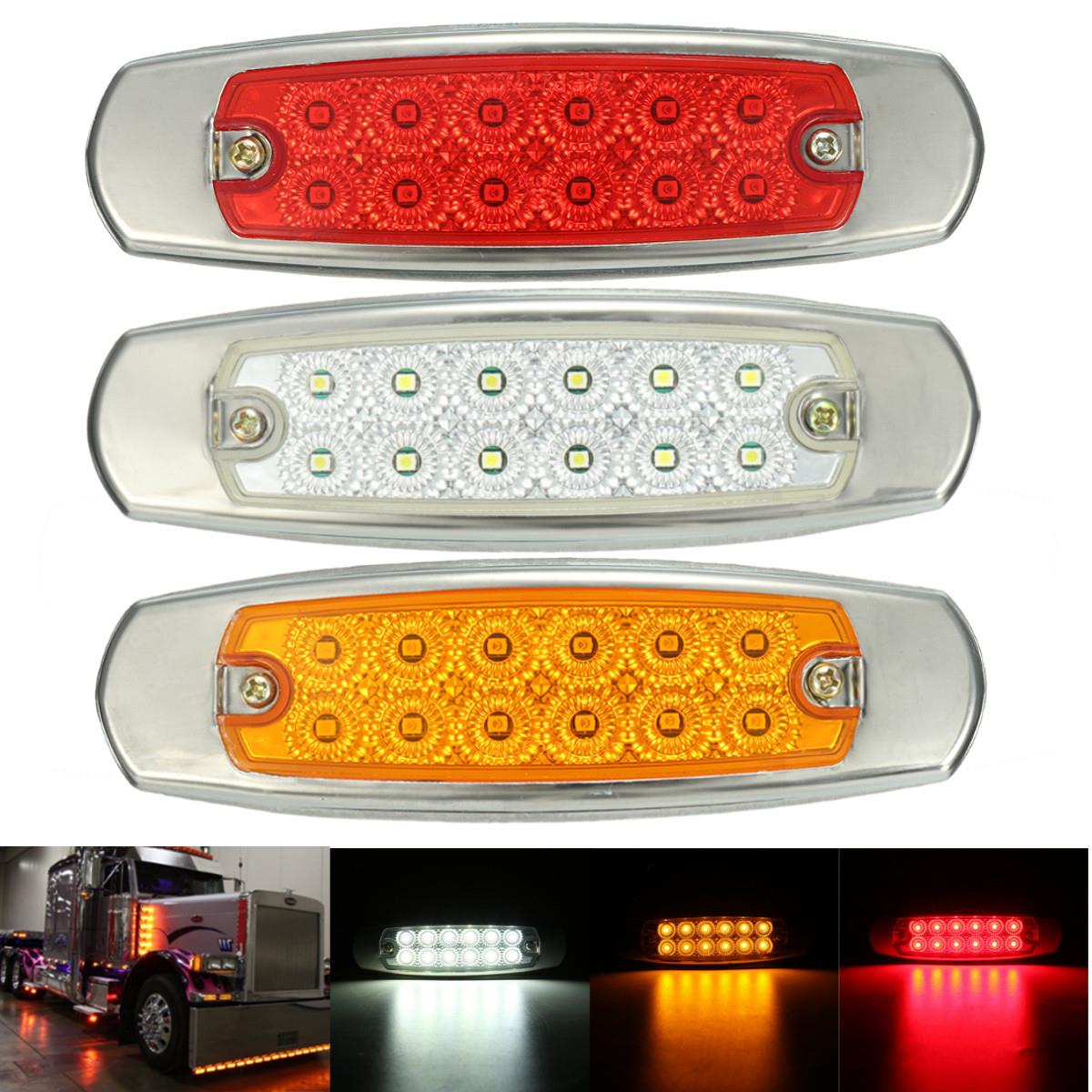 1Pcs Universal 12V DC 12 LED Side Marker Indicator Light Lamp Truck Trailers Lorry Bus Turn Signal Light Lamp 1pcs motorcycle turn signal light 12 led moto flasher universal indicator lamp night light fog spot light lamp waterproof