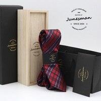 2016 red plaid formal business necktie men fashion kravat male wedding neckwear gent mariage neck tie husband gift with box