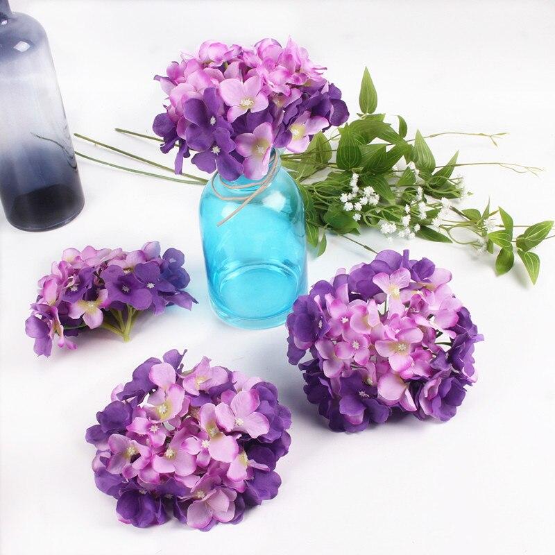 Luksuzni umjetna svila hortenzija cvijet glavu 15cm za DIY vjenčani - Za blagdane i zabave - Foto 3