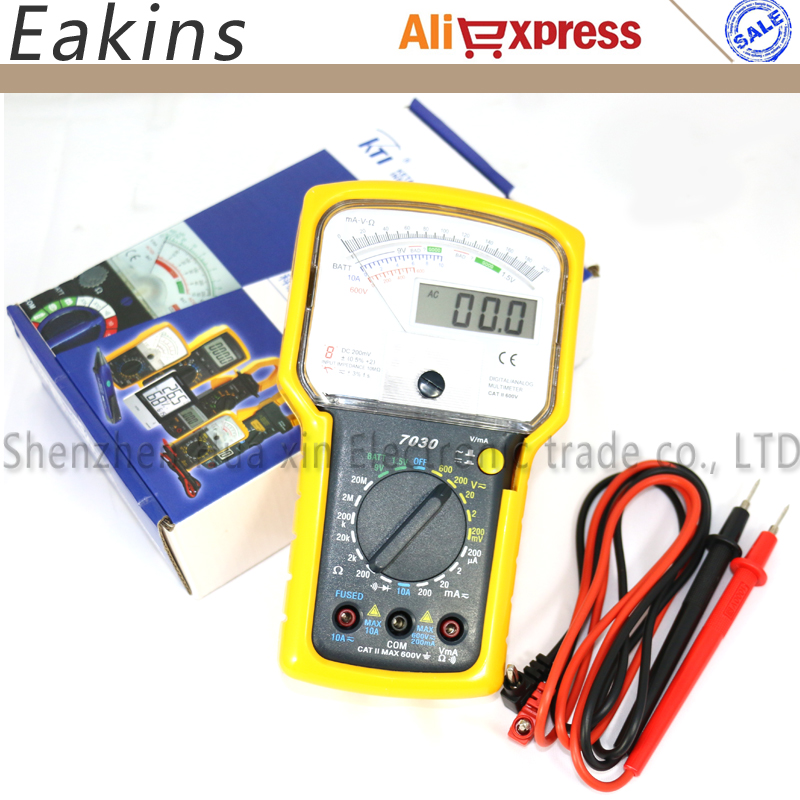 Pointer digital dual display multimeter high sensitivity precision multi-function test voltage current resistance diode цены онлайн