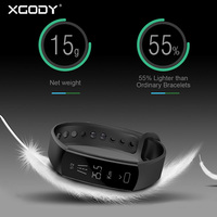 XGODY C07 Super Light Weight Bluetooth Smart Watch Bracelet IOS Android Connectivity Pedometer Heart Rate Monitor