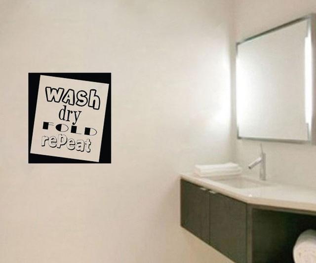 Wassen droog herhaal muurstickers voor badkamer interieur diy behang