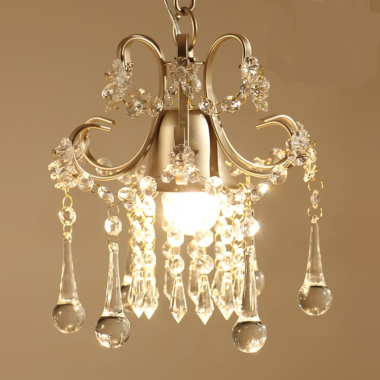American style rural creative personality Pendant Lights simple crystal single bedroom balcony entrance crystal lamps LU71239 максисвет потолочная люстра максисвет design геометрия 1 1696 4 cr y led