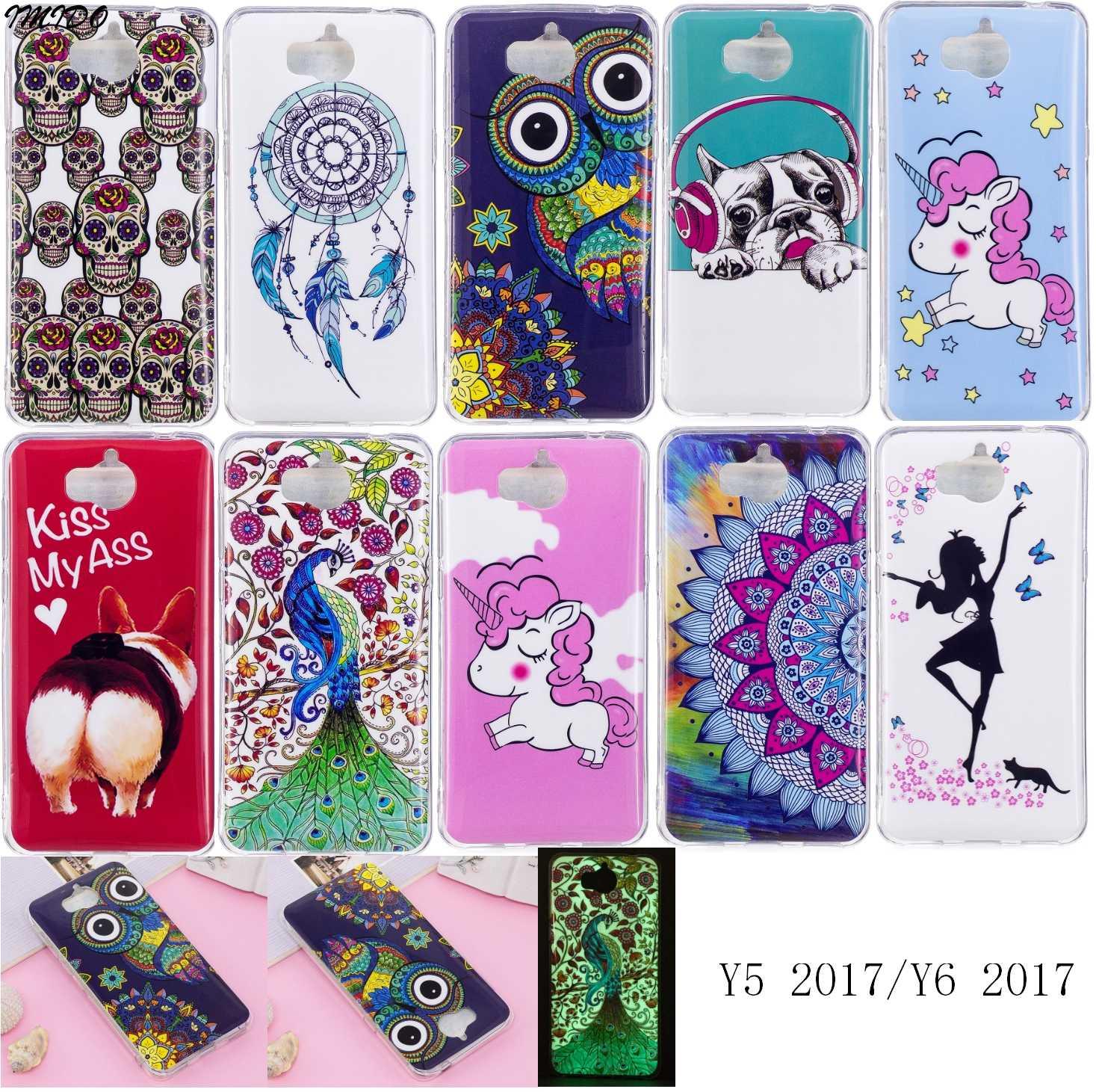 disponibilità nel Regno Unito 44892 3636f Coque Huawei Y6 2017 Case Huawei MYA L41 Cover Huawei Y5 Y 5 2017 Capa para  Huawei MYA L02 MYA-L03 MYA-L22 MYA-L23 Fundas 5.0