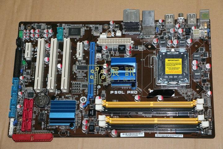 Бесплатная доставка Оригинал плата Материнская плата для ASUS p5ql Pro DDR2 LGA 775 USB2.0 16 ГБ настольных материнских плат