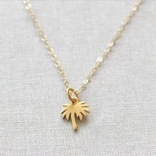 Boho Choker Gold Palm Tree Necklace Pendant Collier Femme Stainless Steel Chain Necklace For Women Island Life Bff Jewelry(China)