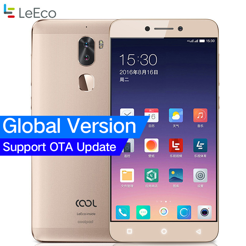 Global Version Original Letv Cool 1 Dual Leeco Coolpad Cool1 3GB/4GB RAM 32GB Snapdragon 652 Mobile Phone 5.5 13MP Dual Cameras