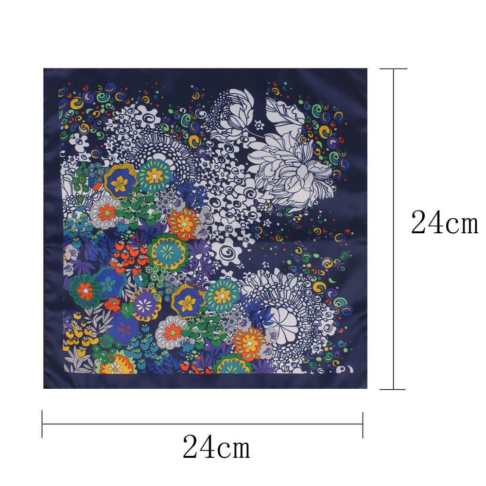 الحرير تشبه الجيب ساحة للرجال النساء الأزهار طباعة الدعاوى منديل رجالي منديل دعوى ساحة منديل المناشف والأوشحة