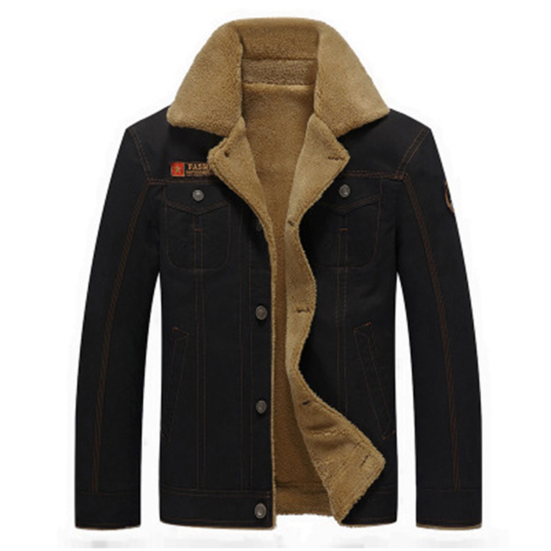 Plus Size 5XL Men's Wool Blends Thick Warm Winter Coats Men Single Breasted Winter Coat With Two Pockets Outerwear Male Clothing 3